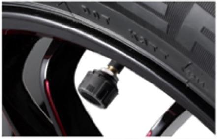 09 自動車タイヤのバルブキャップで空気圧監視